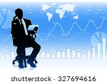 silhouette of businessman with... | Shutterstock .eps vector #327694616