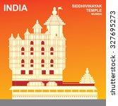 siddhivinayak temple  mumbai ... | Shutterstock .eps vector #327695273