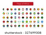 set of round icons african... | Shutterstock .eps vector #327699308