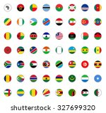 set of round icons african... | Shutterstock .eps vector #327699320