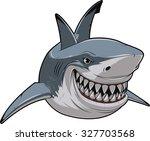 white shark | Shutterstock .eps vector #327703568