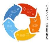 vector round infographic... | Shutterstock .eps vector #327705674