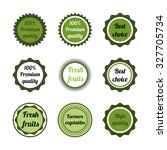 set of green circle logos.... | Shutterstock .eps vector #327705734