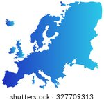 europe map on a white background | Shutterstock . vector #327709313