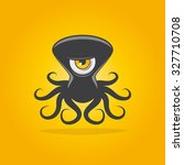 funny alien octopus   Shutterstock .eps vector #327710708