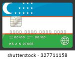 a credit card illustration with ...   Shutterstock .eps vector #327711158