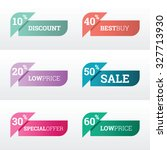 discount and price tags for web ... | Shutterstock .eps vector #327713930