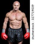 portrait of bald man with... | Shutterstock . vector #327719039