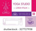 yoga studio flayer in modern...   Shutterstock .eps vector #327727958
