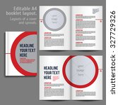 a4 booklet layout design... | Shutterstock .eps vector #327729326