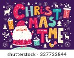 christmas vector postcard with...   Shutterstock .eps vector #327733844