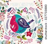 christmas vector illustration... | Shutterstock .eps vector #327733880