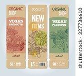 vector cardboard banners set.... | Shutterstock .eps vector #327736610