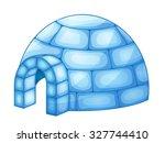 illustration of a igloo | Shutterstock .eps vector #327744410