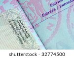 passport page with entry stamp... | Shutterstock . vector #32774500