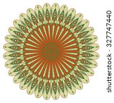 colorful round ethnic pattern.... | Shutterstock .eps vector #327747440