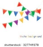 multicolored watercolor... | Shutterstock .eps vector #327749378