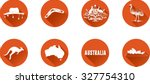 australia flat icon set. vector ... | Shutterstock .eps vector #327754310