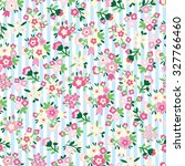 seamless pattern with flower  ... | Shutterstock .eps vector #327766460