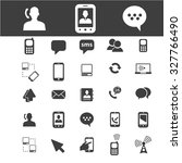 communication icons | Shutterstock .eps vector #327766490