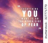 inspirational typographic quote ... | Shutterstock . vector #327771770
