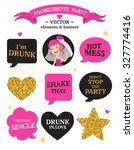 bachelorette party set with... | Shutterstock .eps vector #327774416