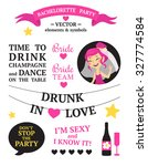 bachelorette party set with... | Shutterstock .eps vector #327774584