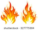 set of two different flame on... | Shutterstock .eps vector #327775304