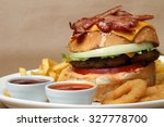 Beef Burger With Grilled Bacon...