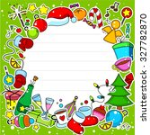 new year  greeting card with... | Shutterstock .eps vector #327782870