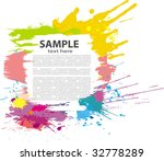 colorful grunge banner. vector | Shutterstock .eps vector #32778289