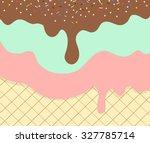 sweet ice cream texture... | Shutterstock .eps vector #327785714