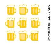 vector pint tankards... | Shutterstock .eps vector #327787208
