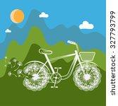 concept illustration bike with... | Shutterstock .eps vector #327793799