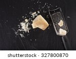grated cheese  grated parmesan... | Shutterstock . vector #327800870
