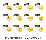 different smiles emotions with... | Shutterstock .eps vector #327809834