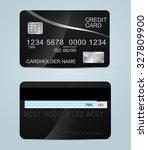 realistic metal credit cards... | Shutterstock .eps vector #327809900