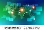 world map with the location of... | Shutterstock . vector #327813440