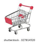 shopping cart isolated on white ... | Shutterstock . vector #327814520