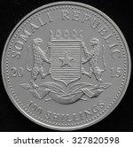 somali republic silver coin | Shutterstock . vector #327820598