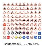 set of traffic signs | Shutterstock .eps vector #327824243