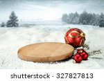 Red Balls And Wooden Plate