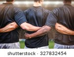 rugby fans in arena against... | Shutterstock . vector #327832454