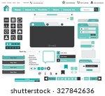 website design elements buttons ... | Shutterstock .eps vector #327842636