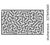 vector labyrinth isolated on... | Shutterstock .eps vector #327845660