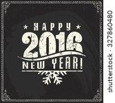 vector christmas chalkboard... | Shutterstock .eps vector #327860480
