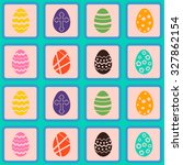seamless background with easter ... | Shutterstock .eps vector #327862154