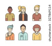 people multicolored icons... | Shutterstock .eps vector #327869114