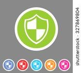 shield icon flat web sign...
