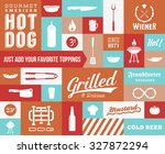 hot dog vector icon and... | Shutterstock .eps vector #327872294